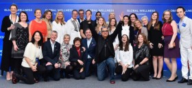 group picture board of directors with keynote speaker Doctor Deepak Chopra and organizational team