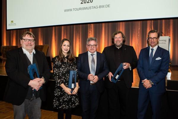 Dr. Franz Linser mit dem Minister für Tourism Guido Wolf, MdL und den weiteren Referenten